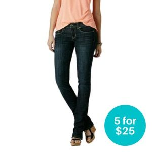 5/$25 American Eagle 77 Straight Leg Jeans 8 S